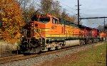 BNSF 4577, CP 9582, BNSF 8975 on CSX K040 oil train.